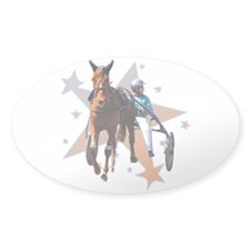 Harness Star Oval Stickers