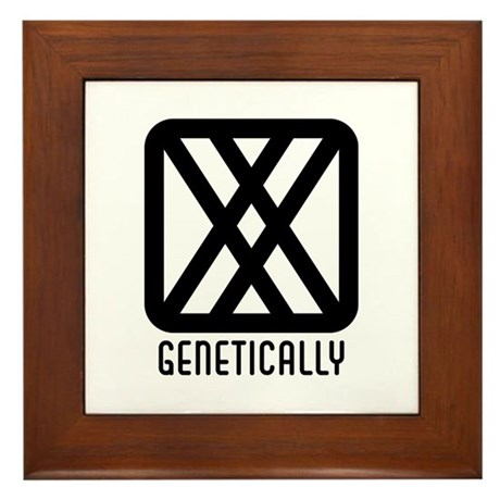 Genetically : Female Framed Tile