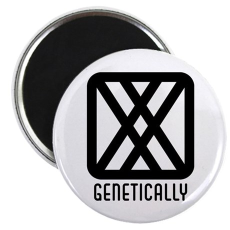 "Genetically : Female 2.25"" Magnet (10 pack)"