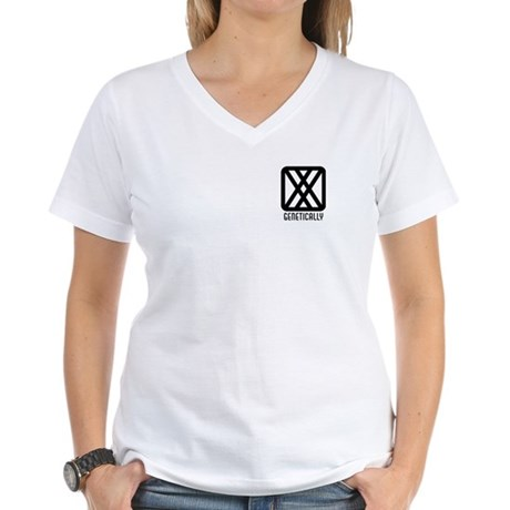 Genetically : Female Women's V-Neck T-Shirt