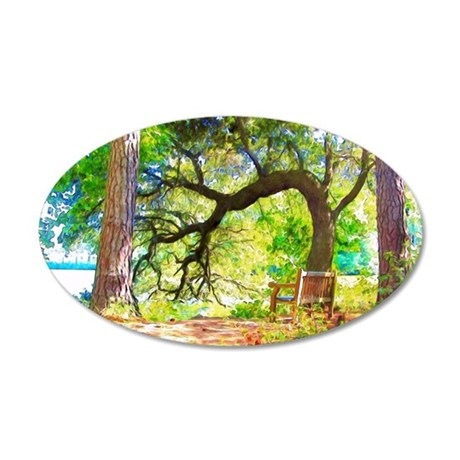 Favorite spot in the gardens 35x21 Oval Wall Decal