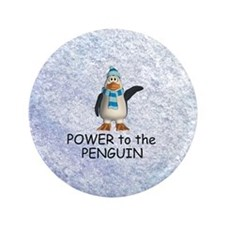 "Penguin Power 3.5"" Button"
