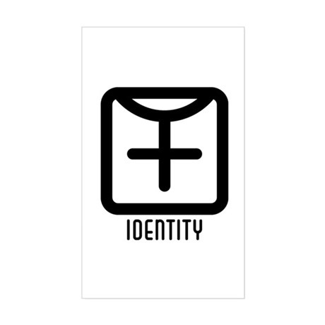 Identity : Female Rectangle Sticker