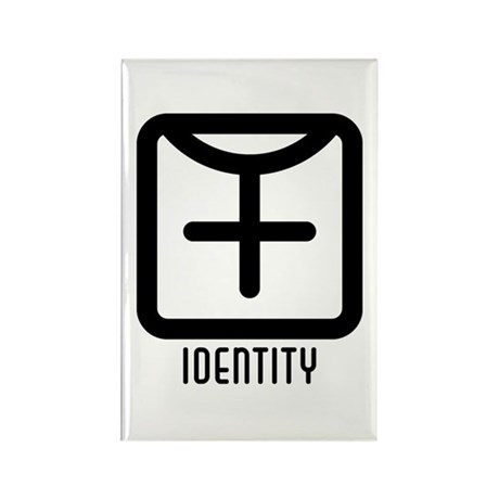 Identity : Female Rectangle Magnet (100 pack)