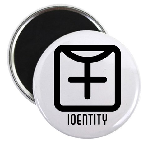 "Identity : Female 2.25"" Magnet (100 pack)"