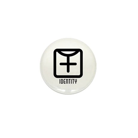 Identity : Female Mini Button (100 pack)