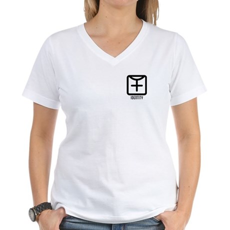Identity : Female Women's V-Neck T-Shirt