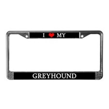 Love Greyhound License Plate Frame