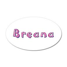 Breana Pink Giraffe 35x21 Oval Wall Decal