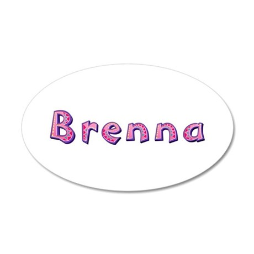 Brenna Pink Giraffe 35x21 Oval Wall Decal