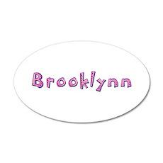 Brooklynn Pink Giraffe 20x12 Oval Wall Decal