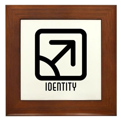 Identity : Male Framed Tile