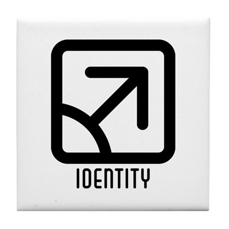 Identity : Male Tile Coaster