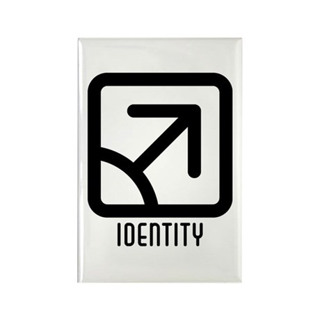 Identity : Male Rectangle Magnet (100 pack)