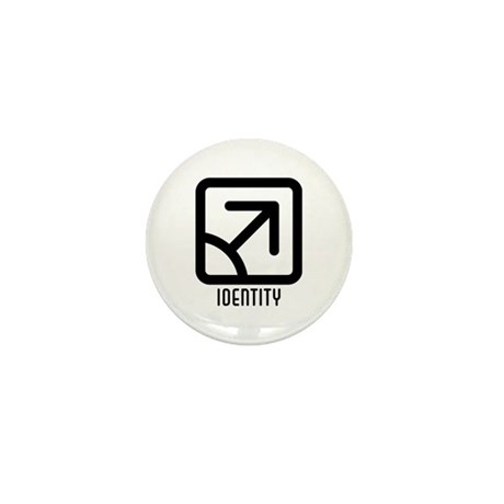 Identity : Male Mini Button (100 pack)