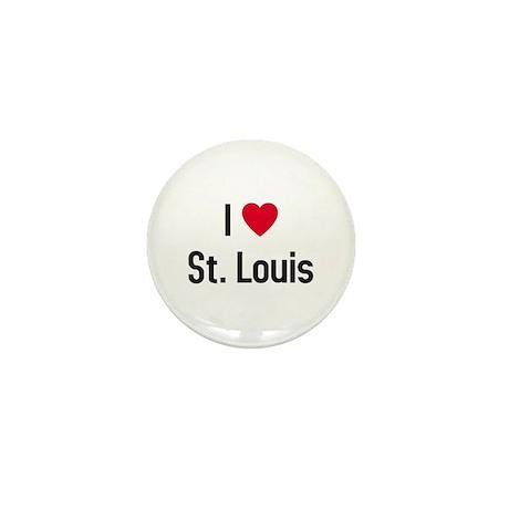 I Love St. Louis Mini Button