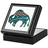 Native Buffalo Design Keepsake Box