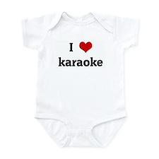 I Love karaoke Infant Bodysuit