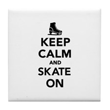 Keep calm and Skate on Tile Coaster