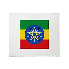 Flag of Ethiopia Throw Blanket