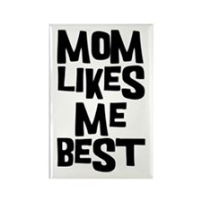 Mom Likes Me Rectangle Magnet