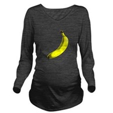 banana Long Sleeve Maternity T-Shirt