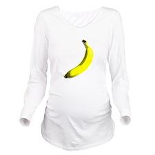 banana Long Sleeve Maternity T-Shirt
