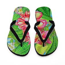 Hawaiian Plumeria Flip Flops