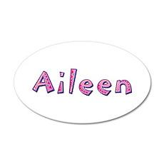 Aileen Pink Giraffe 35x21 Oval Wall Decal