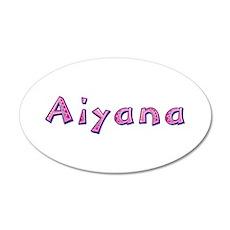 Aiyana Pink Giraffe 20x12 Oval Wall Decal