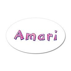 Amari Pink Giraffe 20x12 Oval Wall Decal