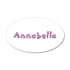 Annabella Pink Giraffe 35x21 Oval Wall Decal