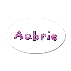 Aubrie Pink Giraffe 20x12 Oval Wall Decal