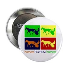 "Pop Art Harness 2.25"" Button (100 pack)"
