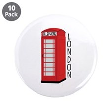 "Telephone London 3.5"" Button (10 pack)"