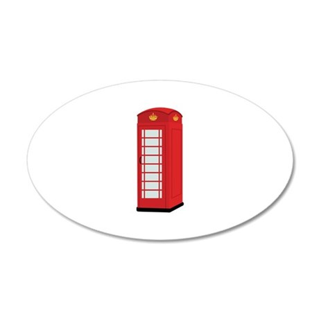 Red Telephone Box Wall Decal