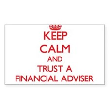 Keep Calm and Trust a Financial Adviser Decal