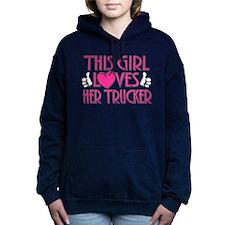 This Girl Loves Her Trucker Hooded Sweatshirt