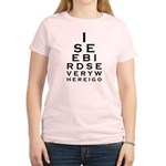Birding Eyechart Women's Light T-Shirt