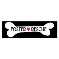 Dog Rescue Foster Bumper Sticker Sticker (Bumper
