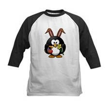Easter Bunny Penguin with Eggs Baseball Jersey