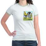 Lemon Blue OE Pair Jr. Ringer T-Shirt