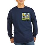 Lemon Blue OE Pair Long Sleeve Dark T-Shirt