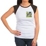 Lemon Blue OE Pair Women's Cap Sleeve T-Shirt