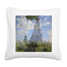 Claude Monet, Woman With A Pa Square Canvas Pillow