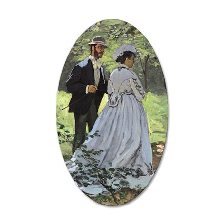 Bazille and Camille, Claude  35x21 Oval Wall Decal