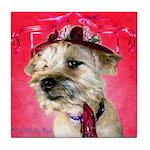 Red Hat Cairn Tile Coaster