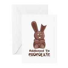 Addicted to Chocolate Greeting Cards