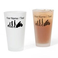 Custom Biker Evolution Motorcycle Drinking Glass