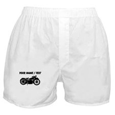 Custom Vintage Motorcycle Silhouette Boxer Shorts